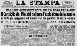 La Stampa: 3 settembre 1938